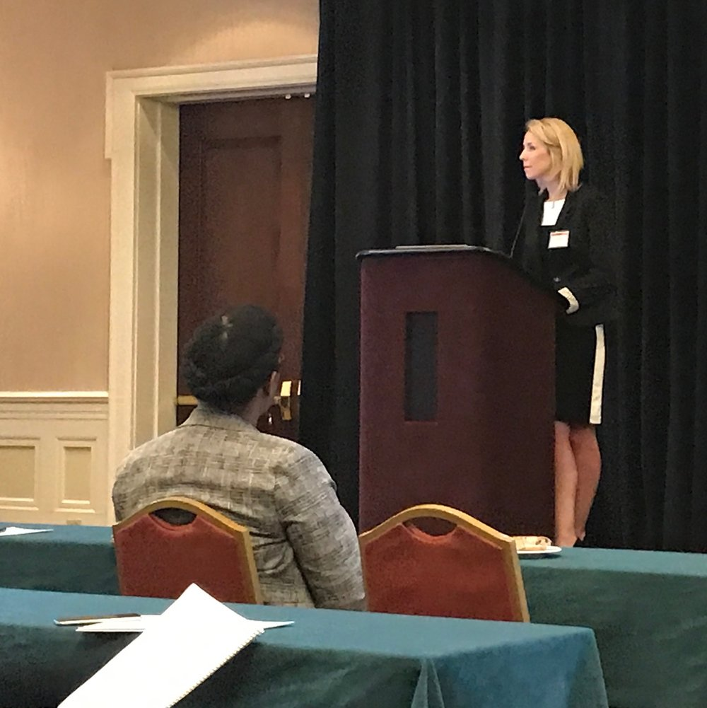 Dr. Danielle Lyons answering questions after her talk,  Observing changes in cerebral blood flow and hippocampal metabolites after a closed head traumatic brain inju  ry,   at the 2017 Kentucky Spinal Cord and Head Injury Research Trust Symposium