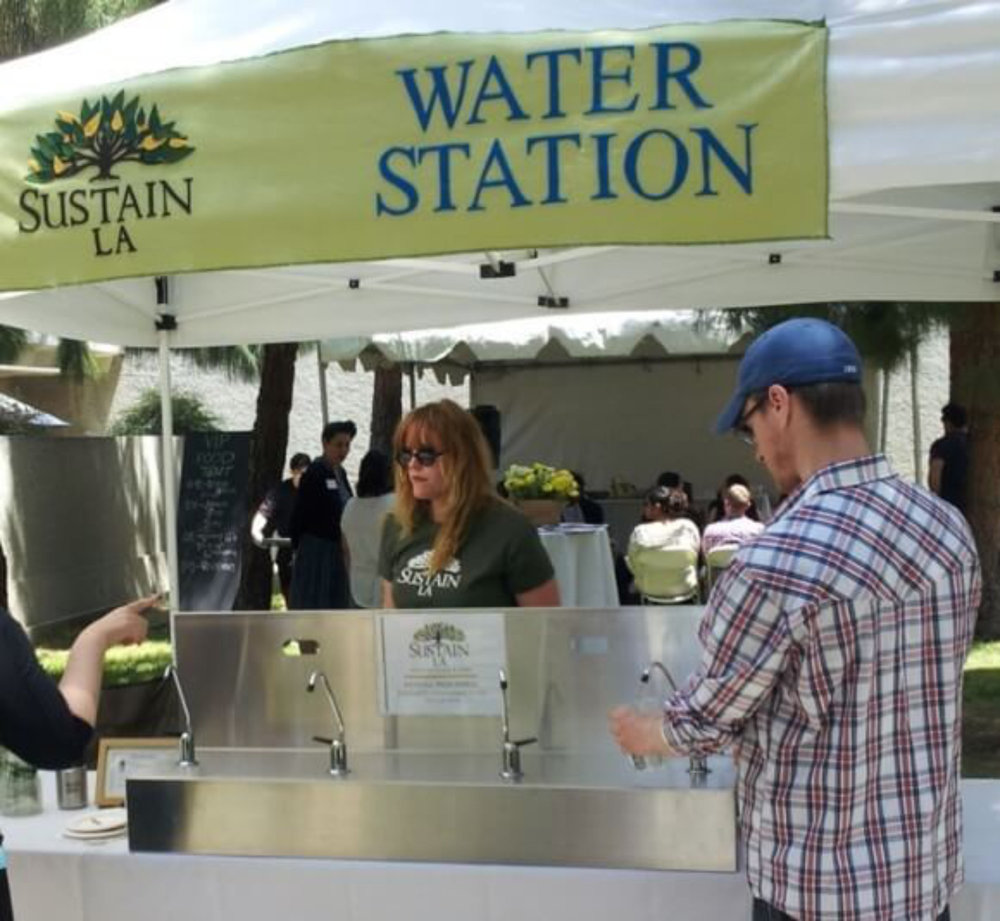 Event Water Bar - 4 easy-to-use spigots allow users to quickly fill their reusable containersGranular activated carbon filter provides great tasting filtered waterMade of high quality stainless steelNSF Certified