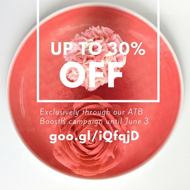 Don't forget you can get your hands on some delicious treats at up to 30% off exclusively through our @atbboostr campaign goo.gl/iQfqjD (direct link in bio) until June 3 🍰 Support local, try new and exciting products and contribute to an awesome cause - all with one purchase at a great discount 🌎 Only 24 more days! 📆