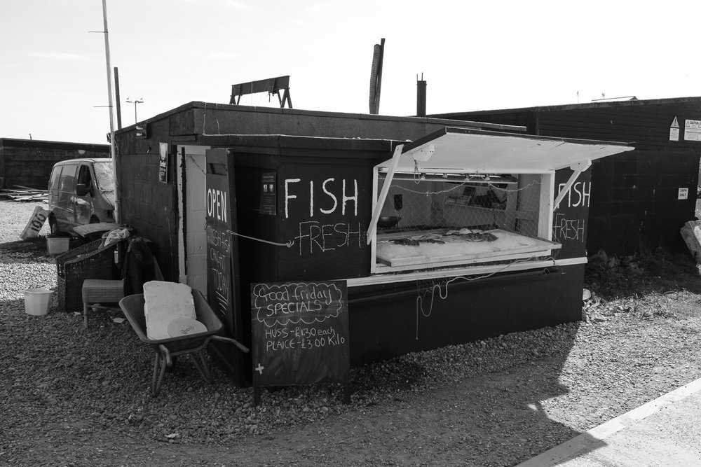 Fresh fish served right on the shore