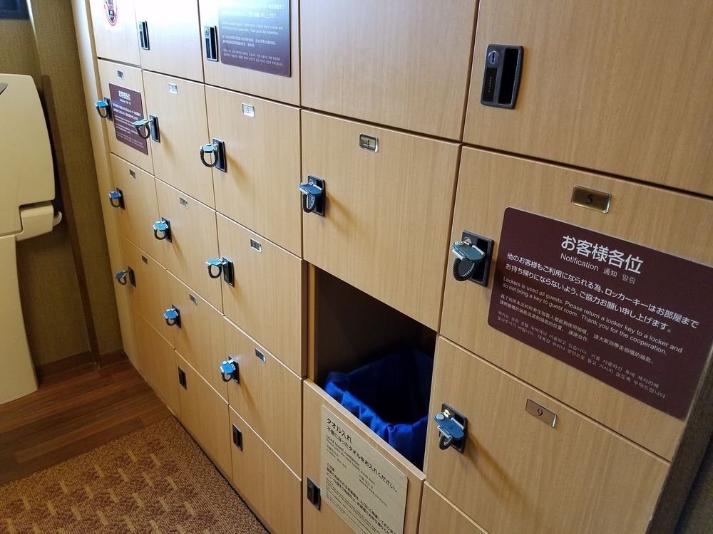 If there's no lockers, there'll be a basket for your clothes and jewellery.