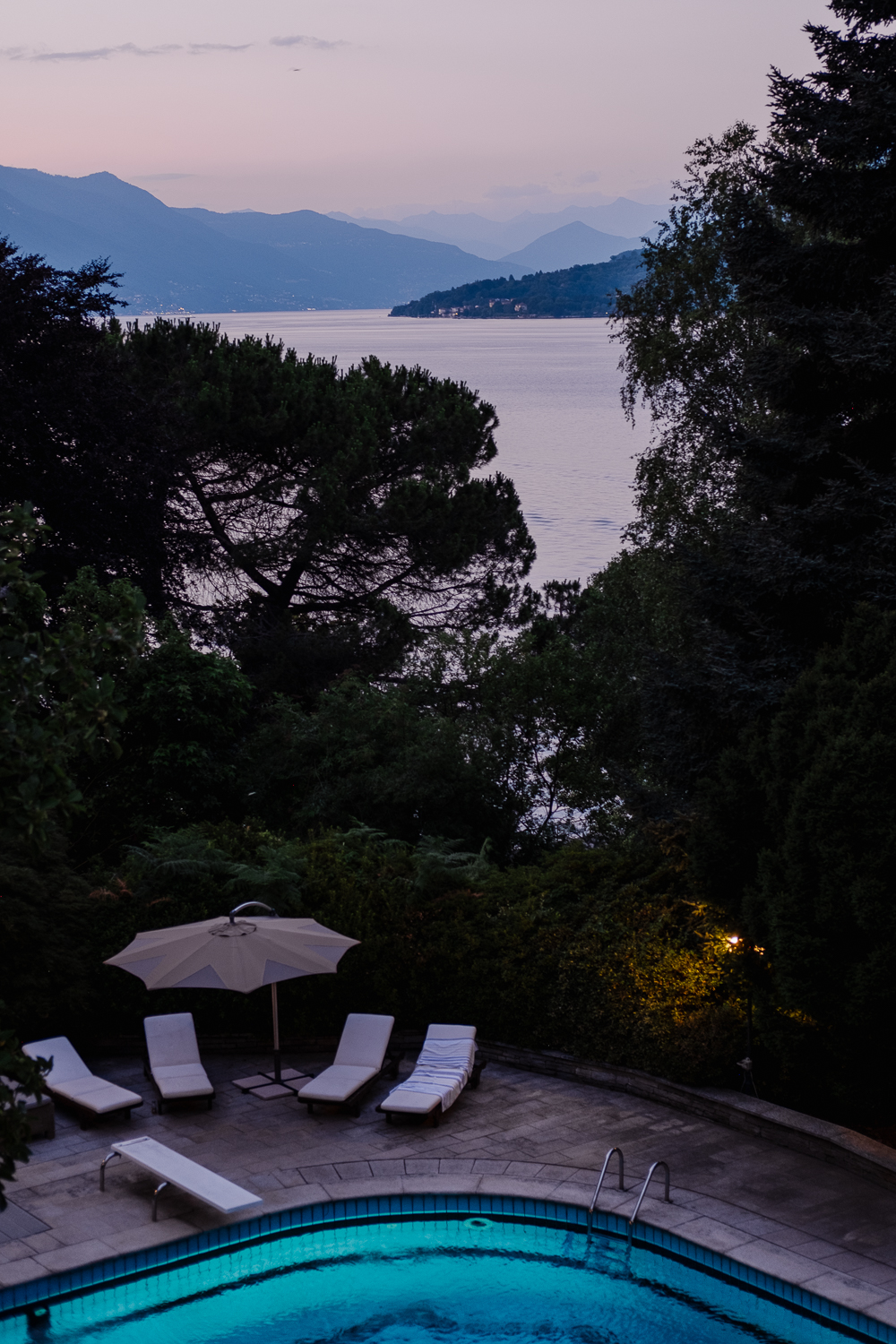 Lake Maggiore from one of the many private villas dotted along the shoreline