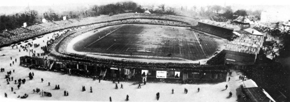 FA Cup Finals were played at the Palace until 1914 and also where Grand Prixes were raced (Photo public domain).