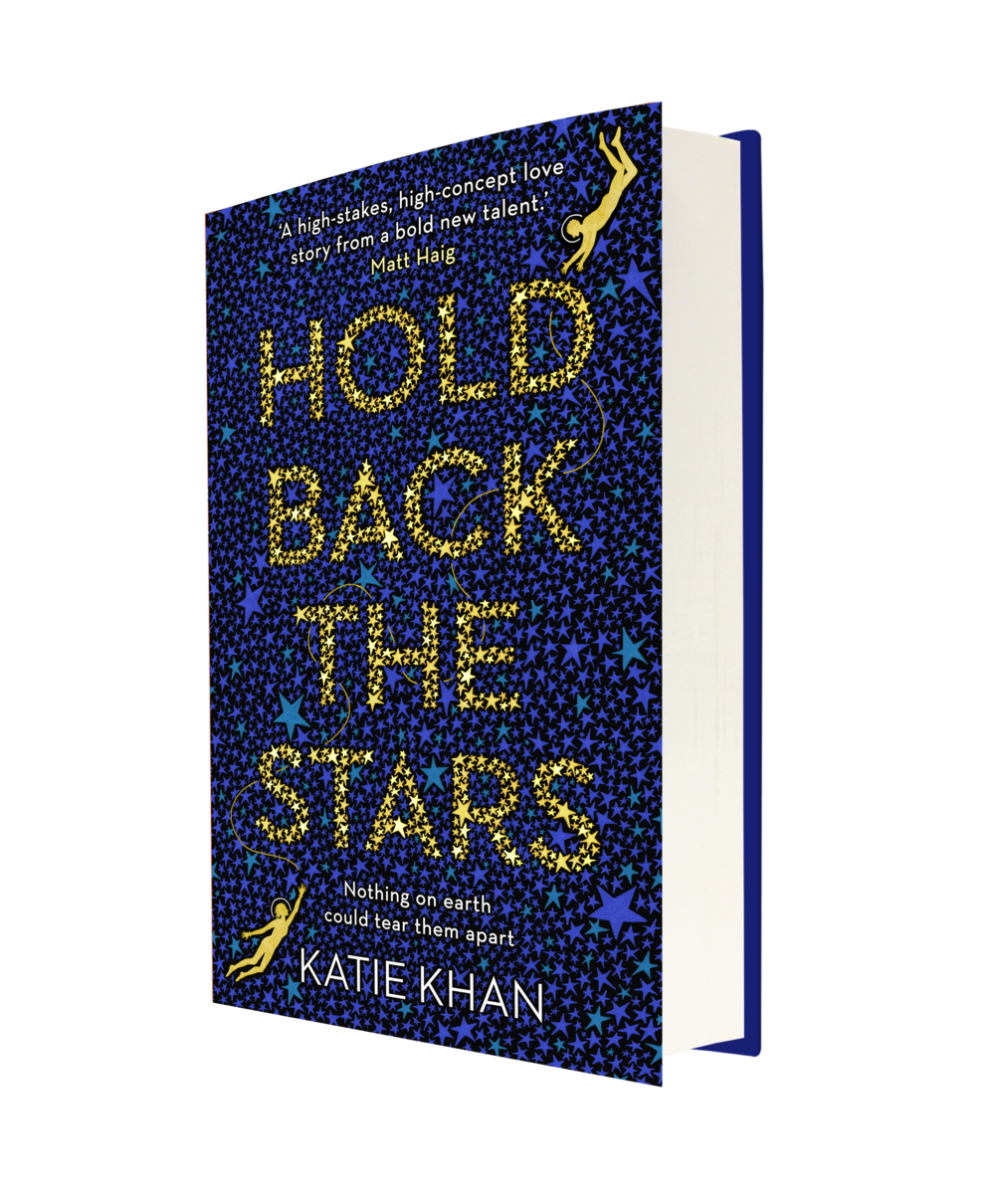 Hold Back the Stars - UK cover designed by Sarah Whittaker at Transworld