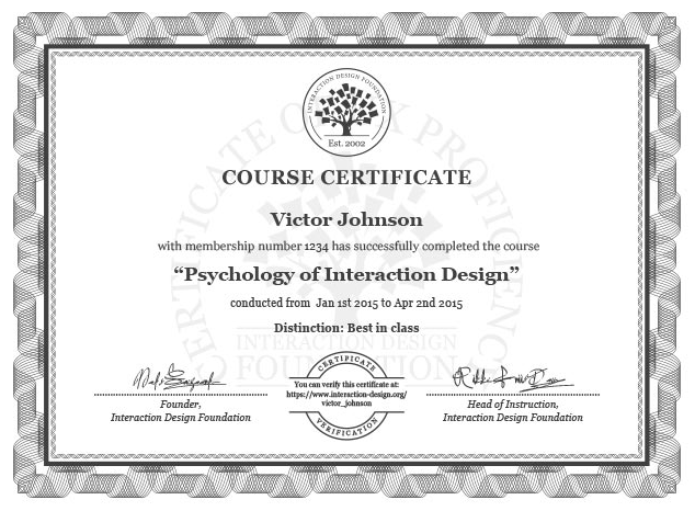 Example certificate.