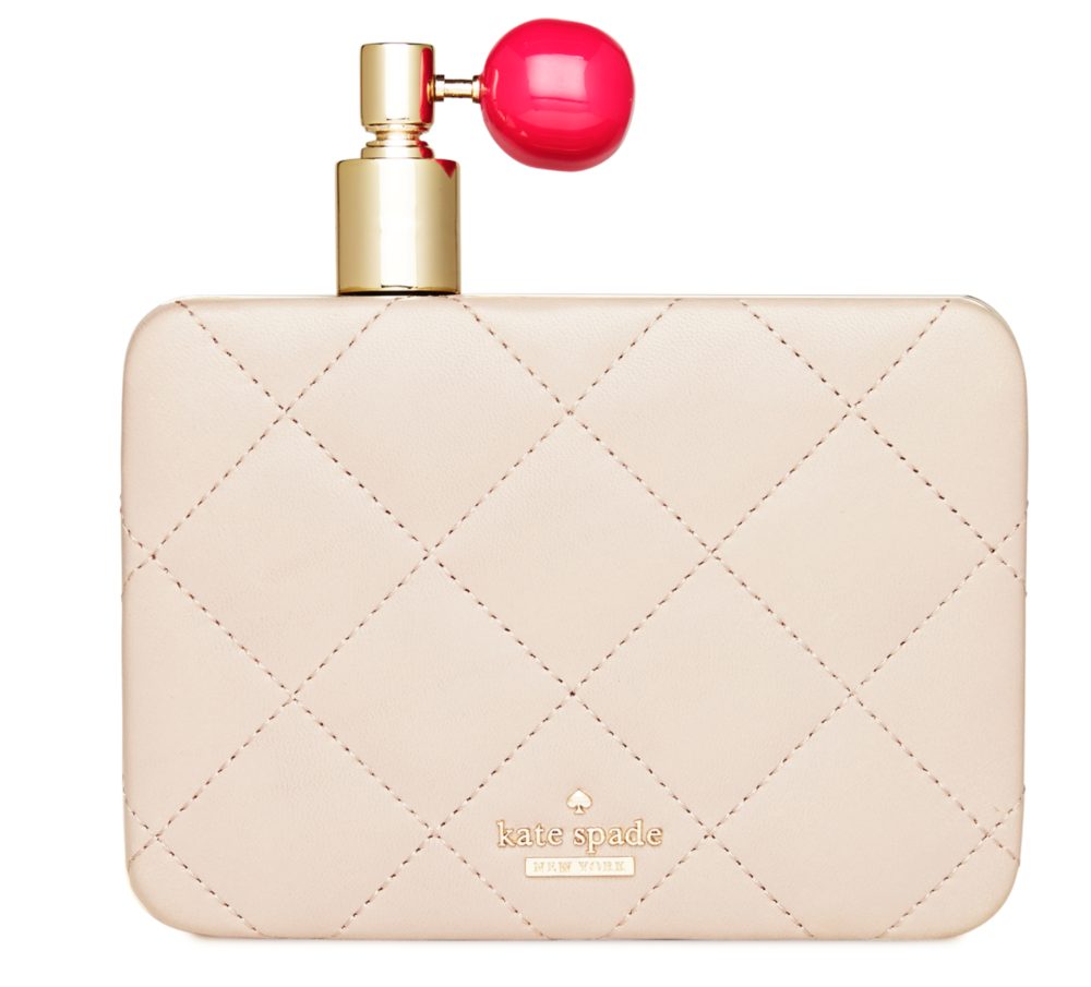 Kate Spade On Pointe perfume bottle clutch $398