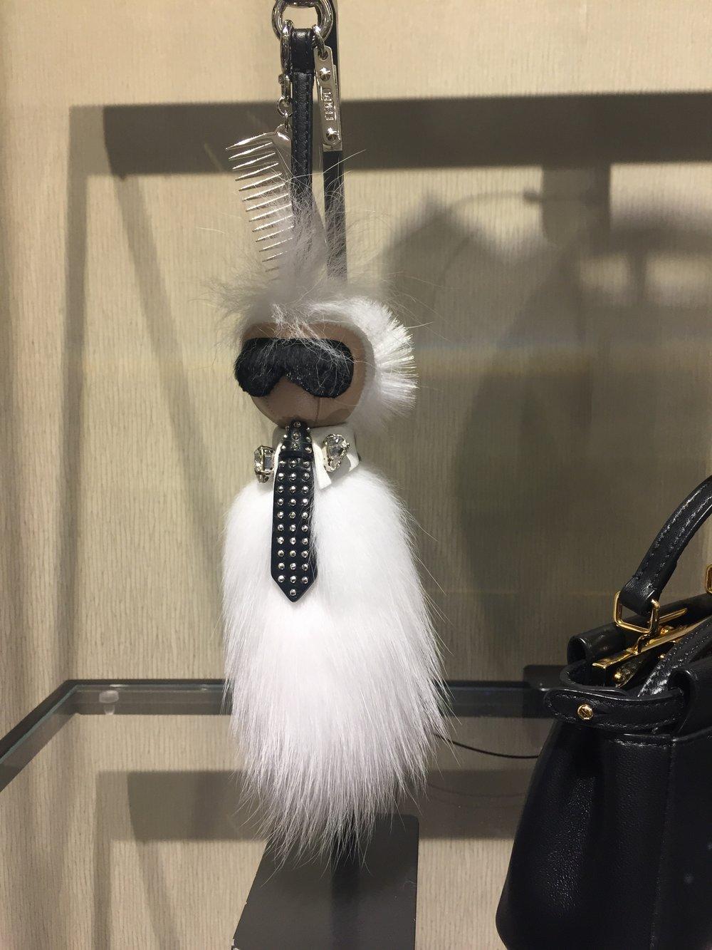 Fendi Mini Karlito tuxedo    PUNKARLITO BAG CHARM