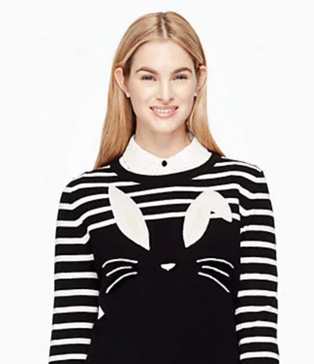 BUNNY SWEATER, AND IT HAS A TAIL.