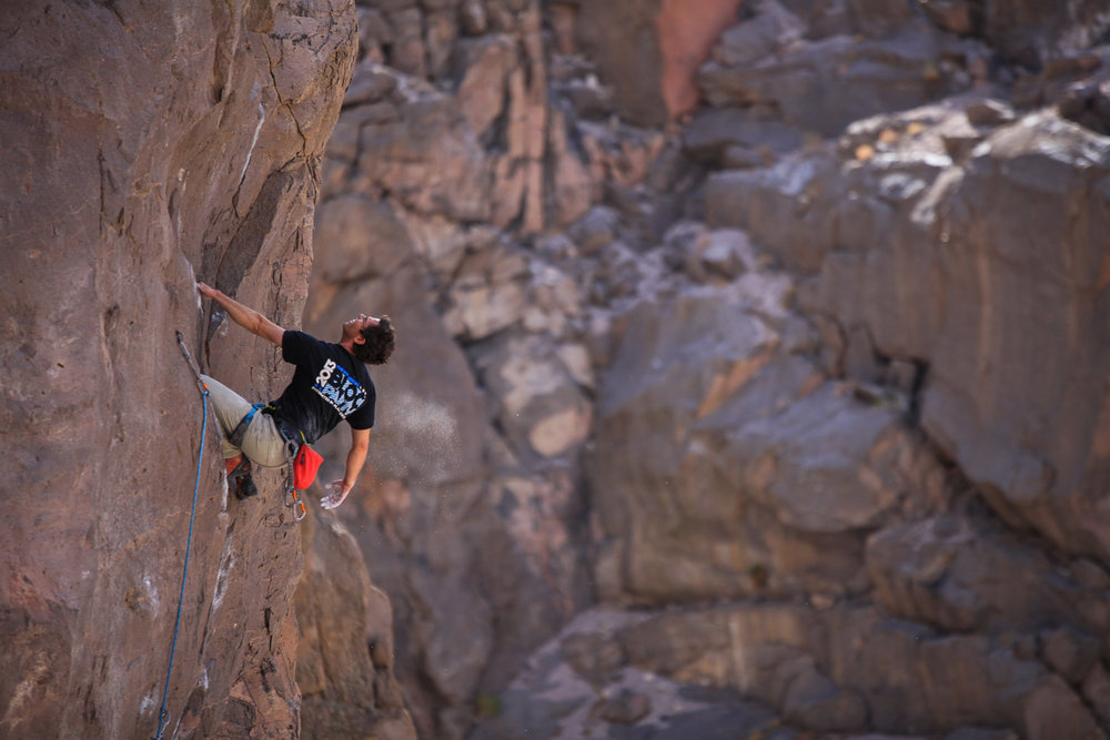 Rock climbing in the Eastern Sierra's, California