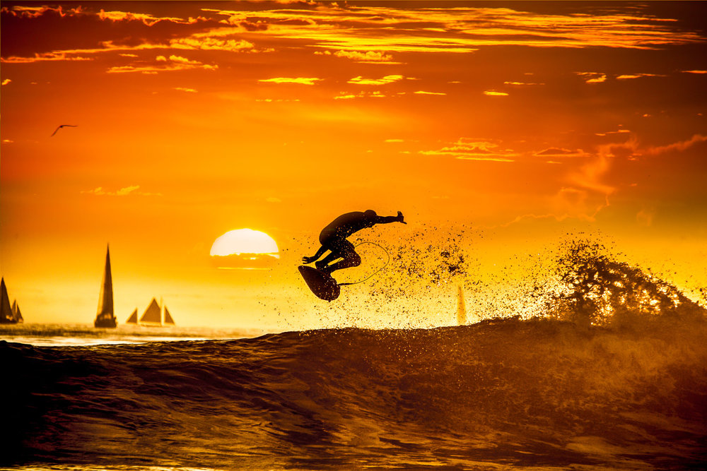 Catching air, California