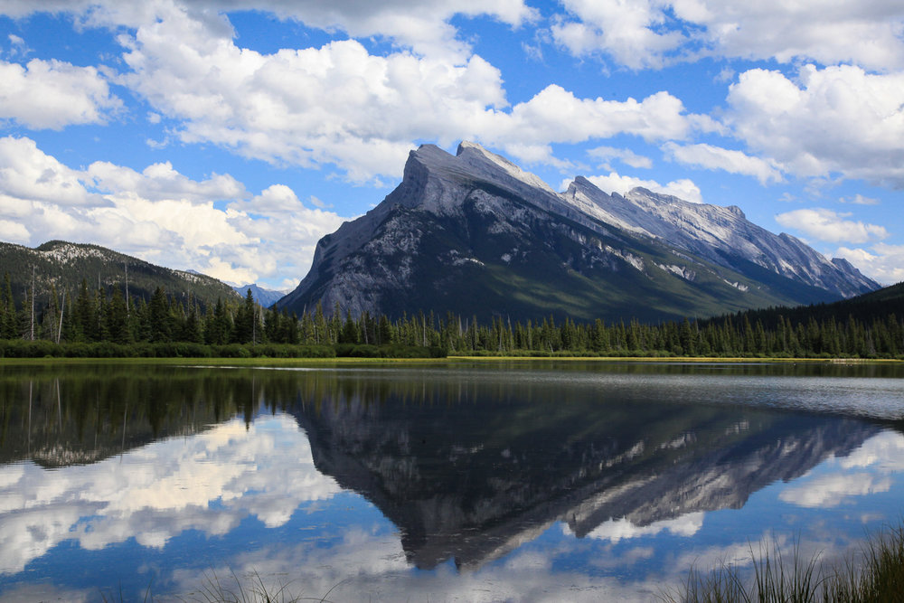 Reflecting Mt Rundle, Banff Alberta