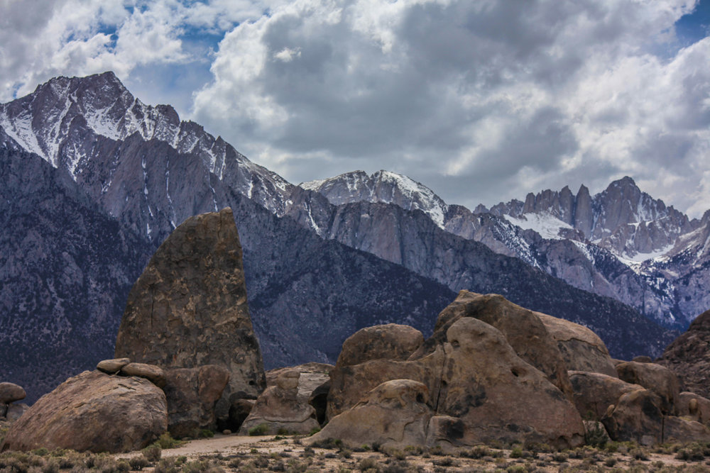 The Shark Fin and Mount Whitney