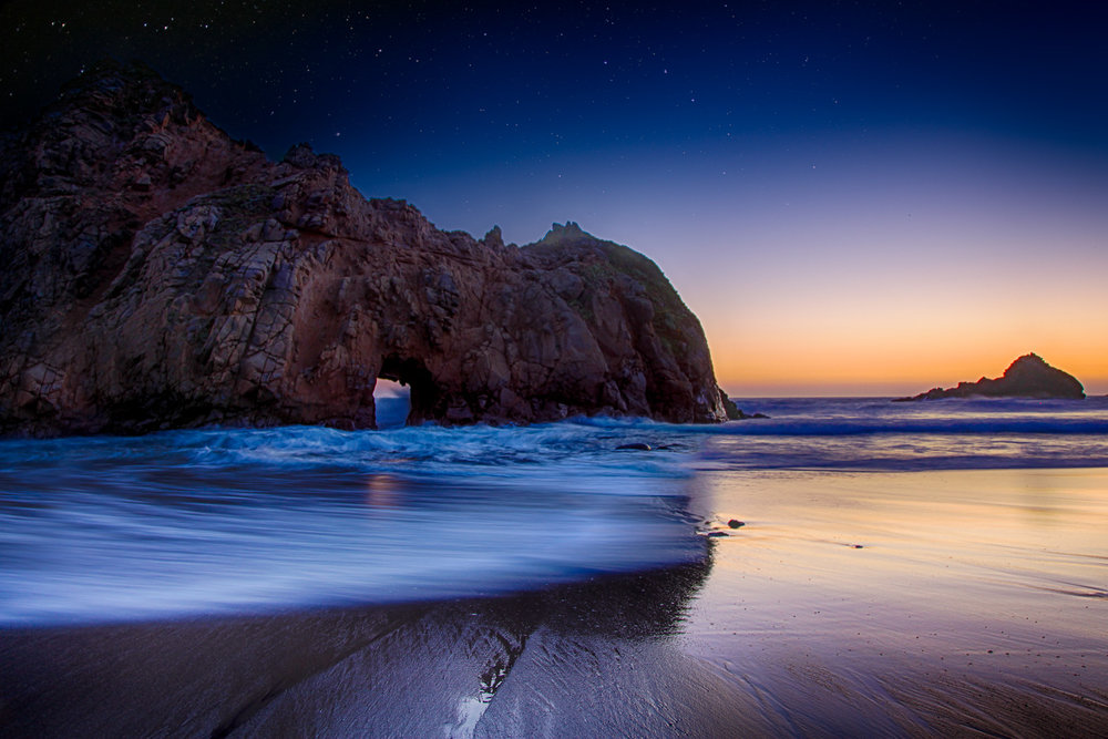 Nightfall, Pfeiffer Beach California