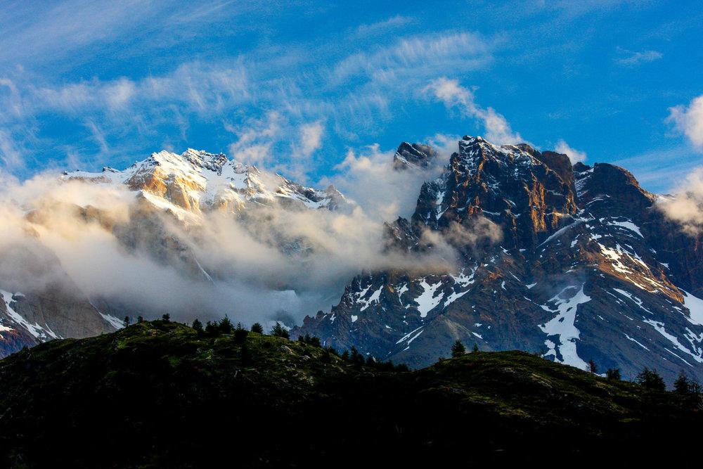 Passing Storm Lago Dixon, Chile