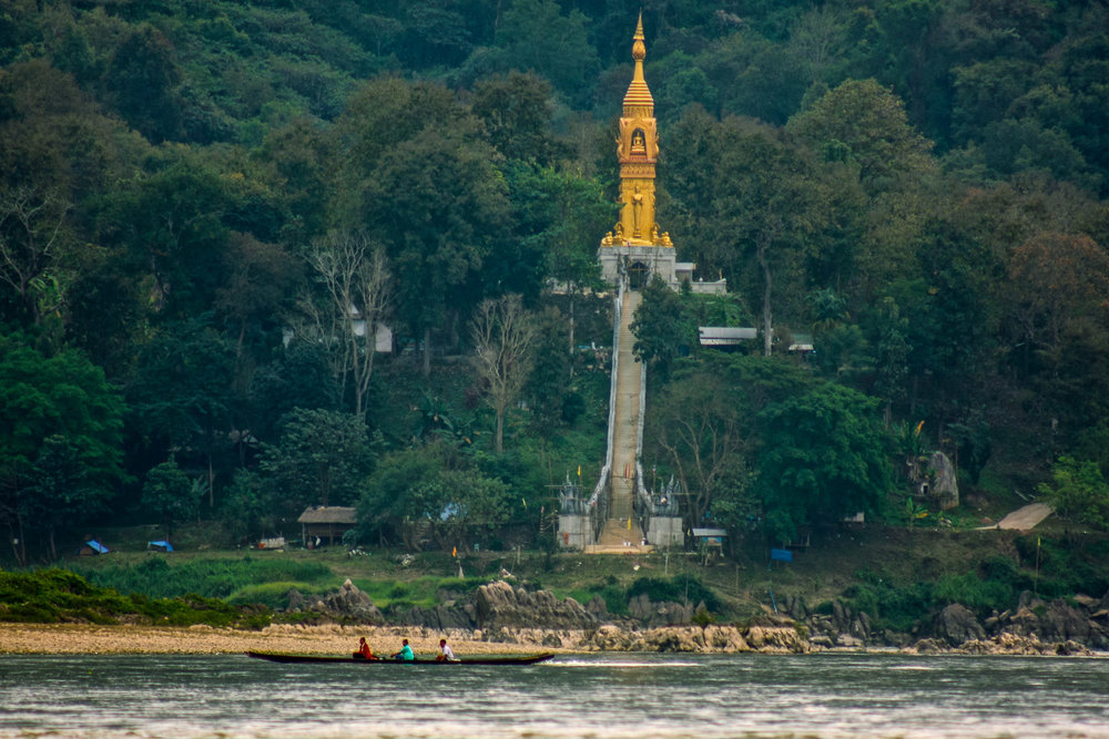 Wat along the Mekong River, Laos