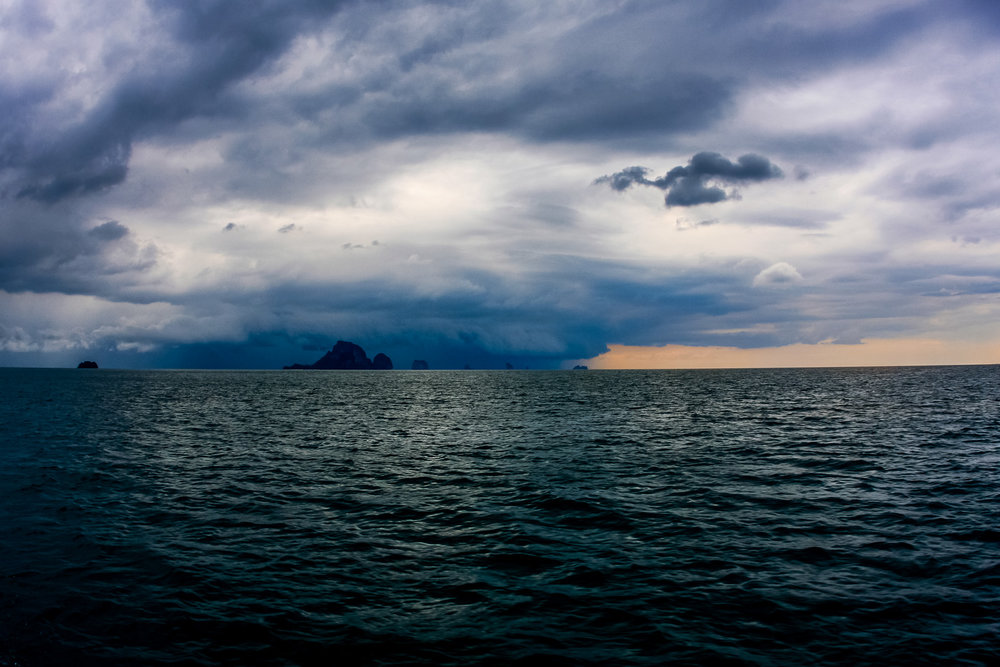 Approaching storm front, Southern Thailand