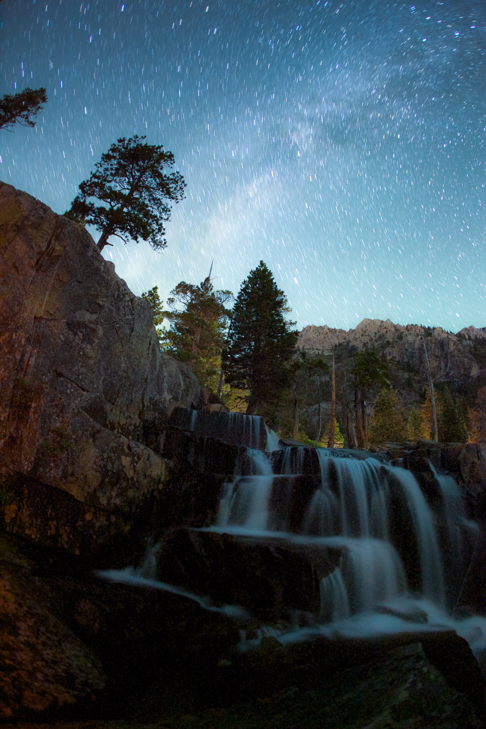 Milky Way above Eagle Falls, California