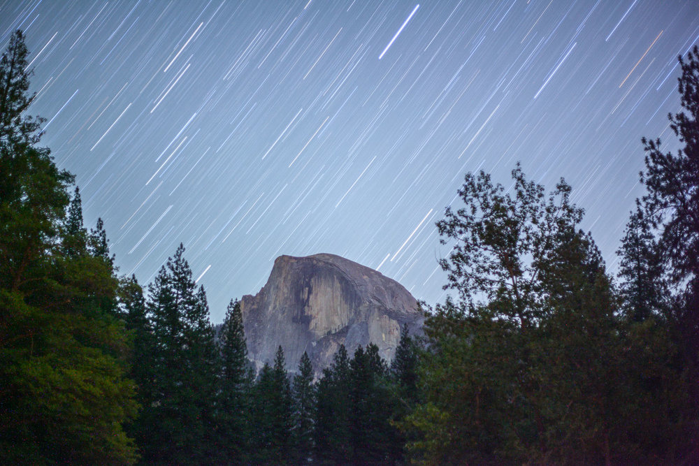 Half Dome under the stars, Yosemite California