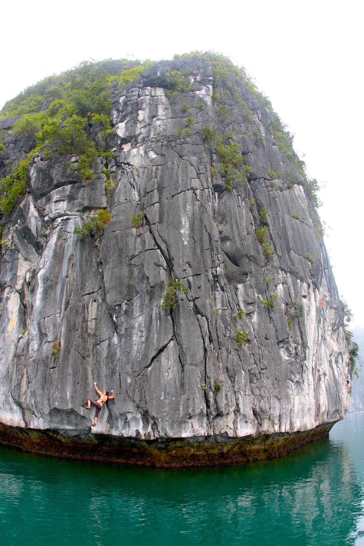Climbing an island of stone, Vietnam