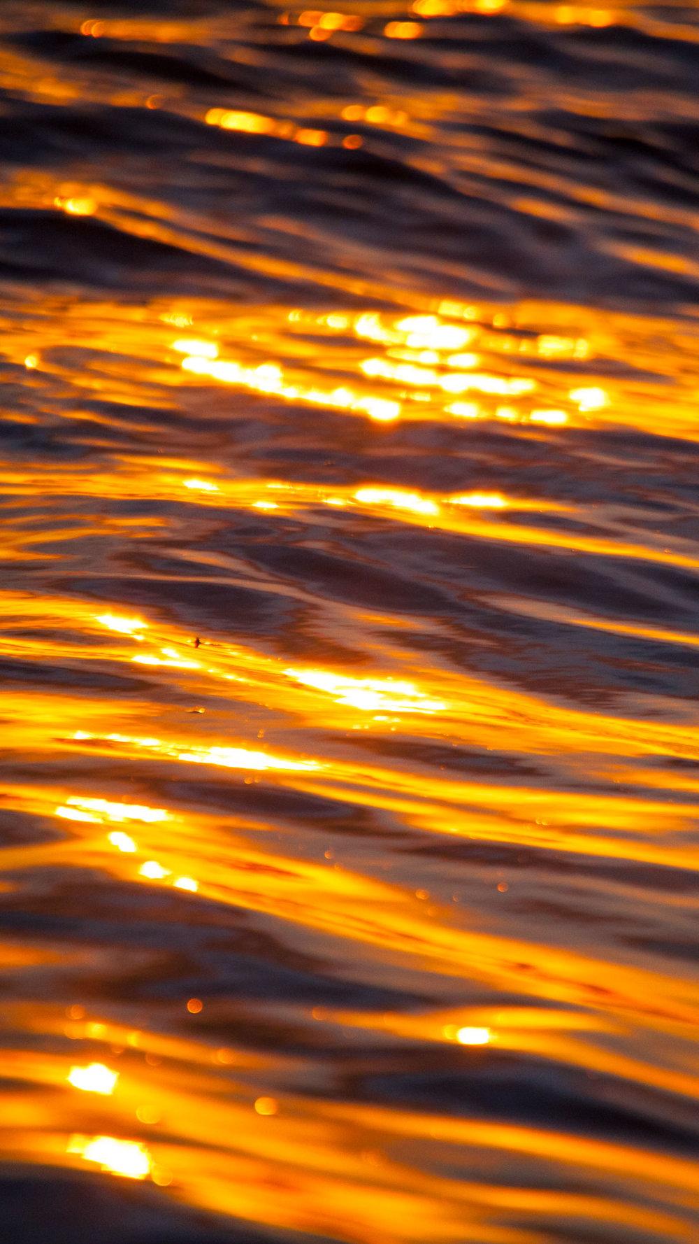 shimmering gold