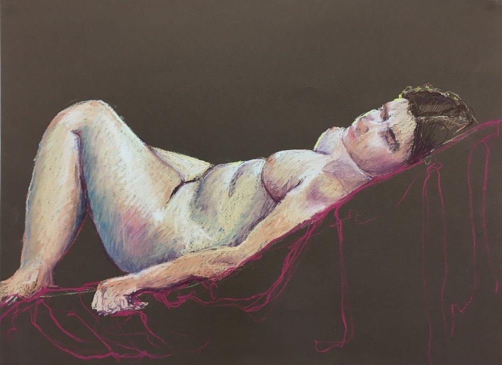 Chalk pastel on paper