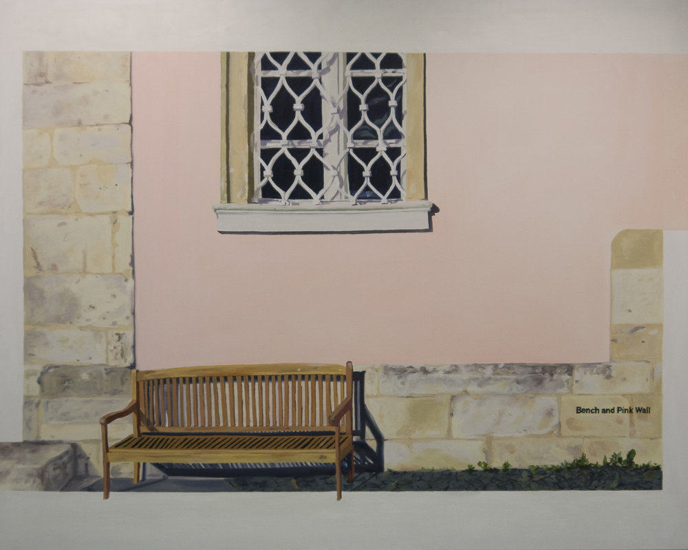 Bench and Pink Wall