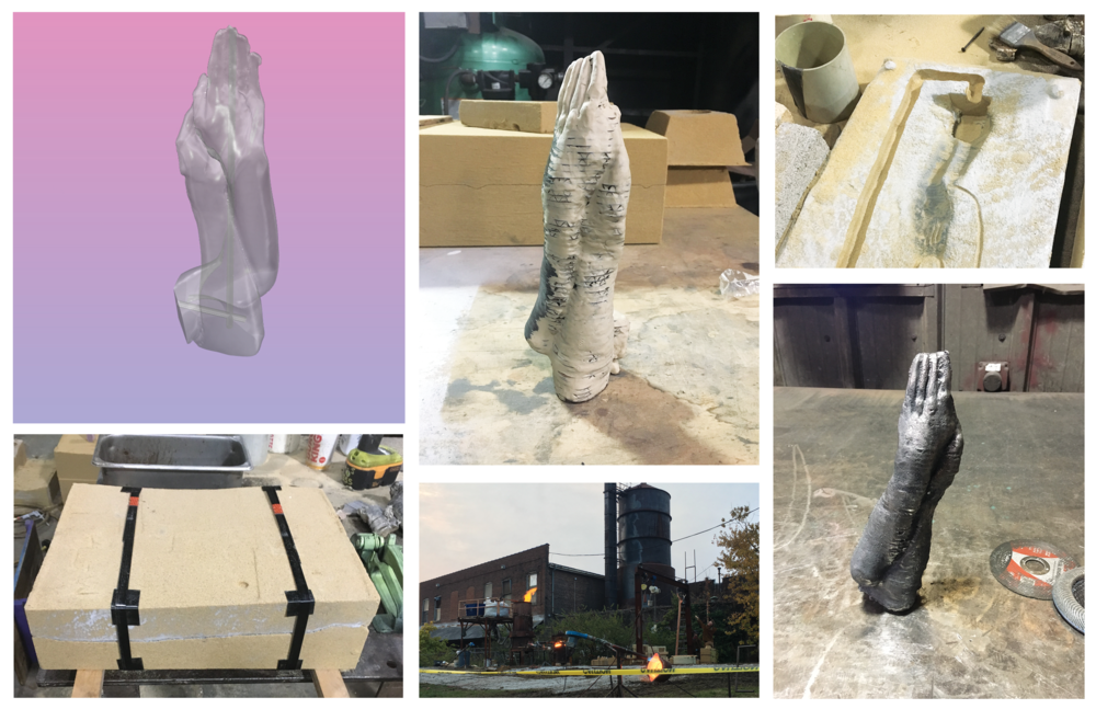 PROCESS - Rhino modeling | sculpture | mold making | iron pour