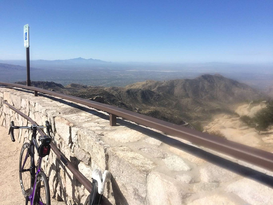 This doesn't even do it justice, as it's only 12 miles up Mount Lemmon.