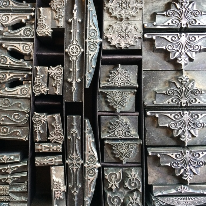 Antique metal type