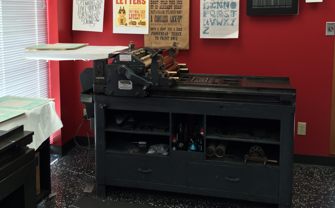 Vandercook printing press