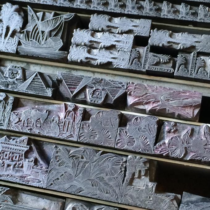 Letterpress metal type Egyptian border from MacKellar Smiths and Jordan