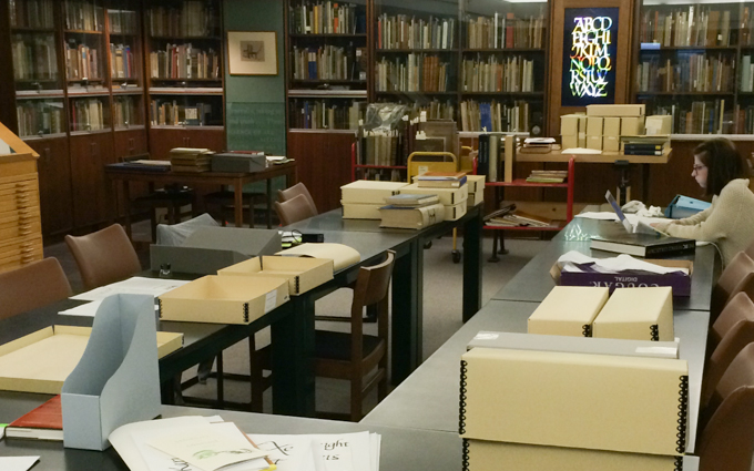 The reading room for the Cary Graphics Arts Collection at the Rochester Institute of Technology.
