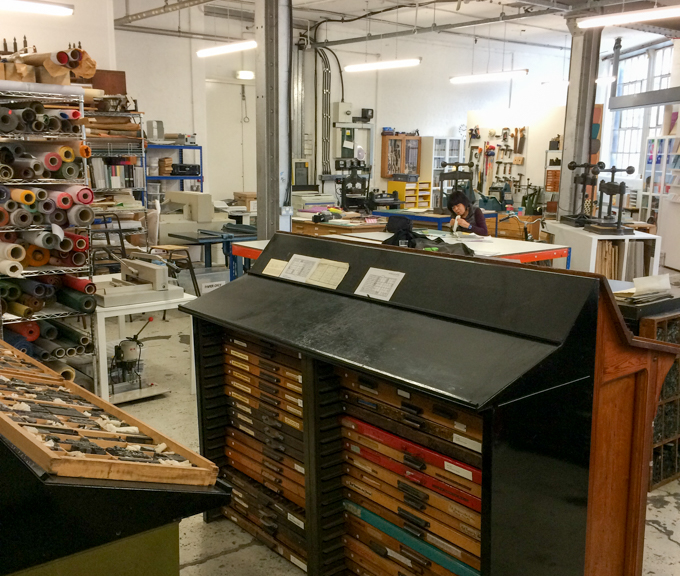 London Centre for Book Arts studio