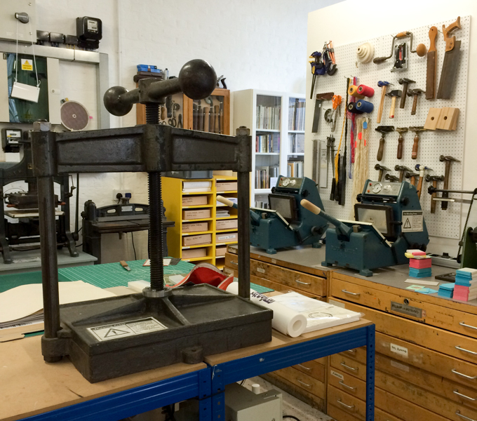 Book press and binding equipment