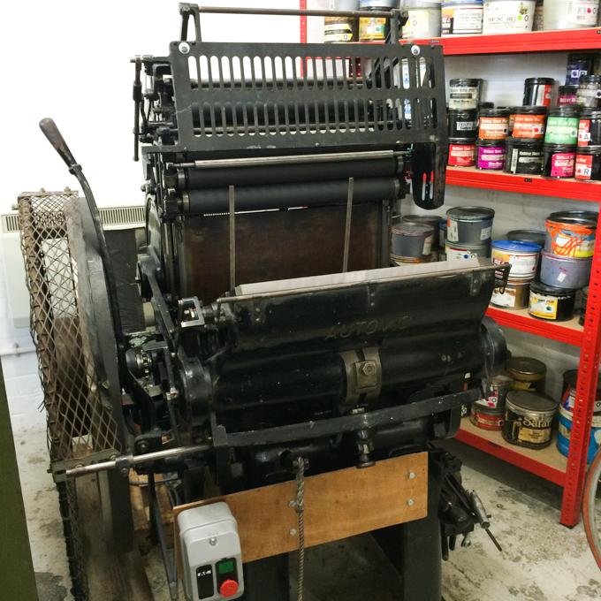 Autovic printing press