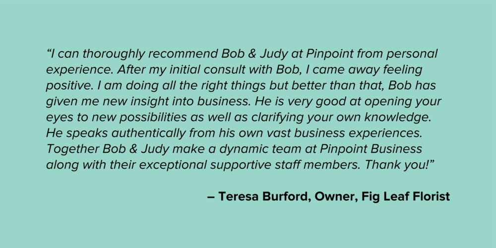 Teresa Burford Micro Business Testimonial Quote