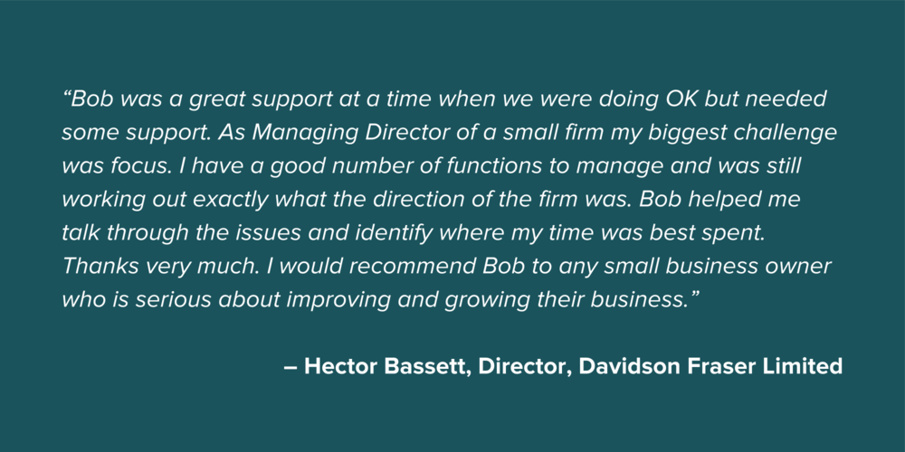 Hector Bassett Small Business Testimonial Quote