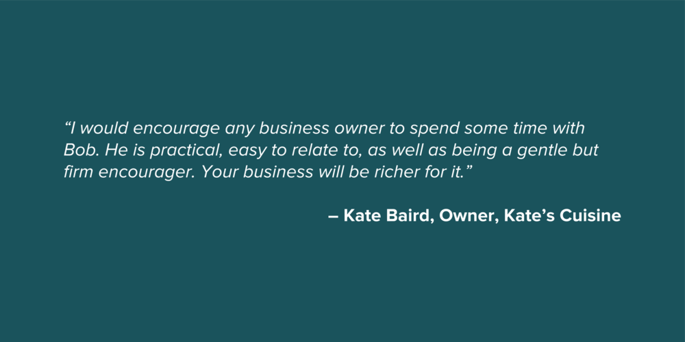 Kate Baird Small Business Testimonial Quote