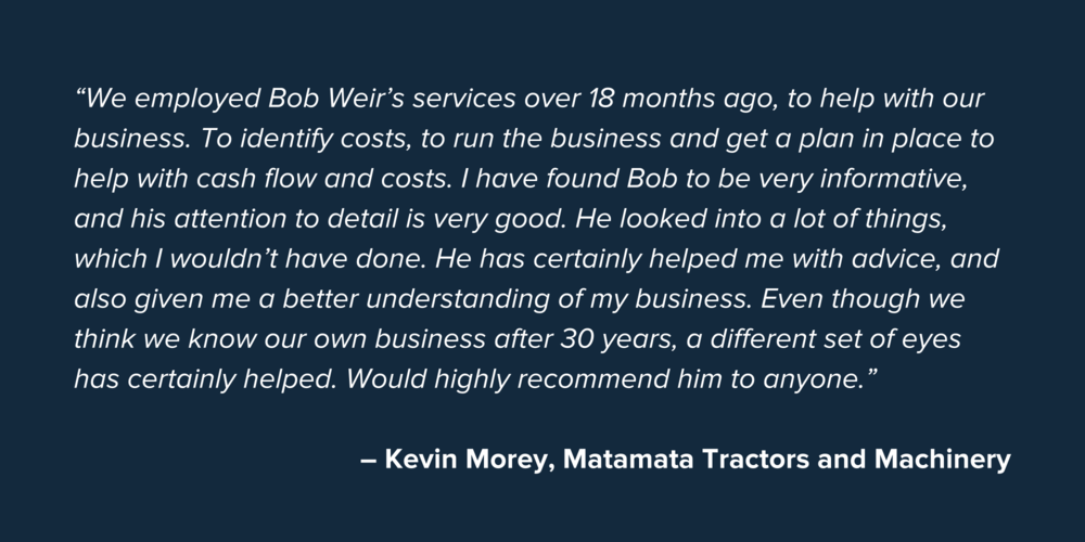 Kevin Morey SME Business Testimonial Quote