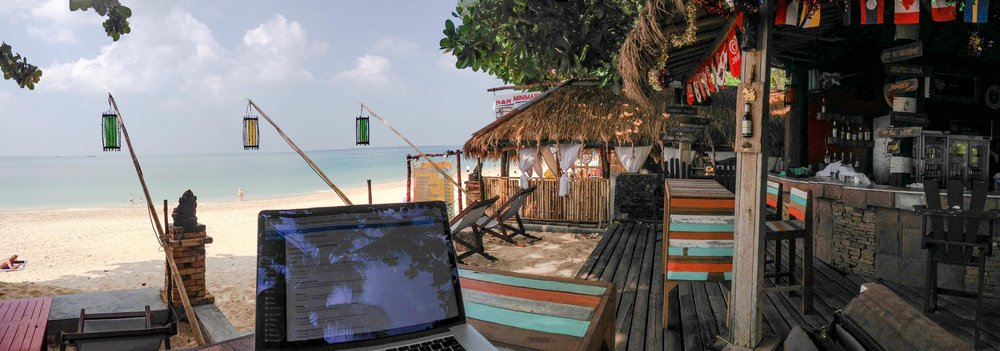 Remote working in Thailand. Photo Credit:  Jan Beck