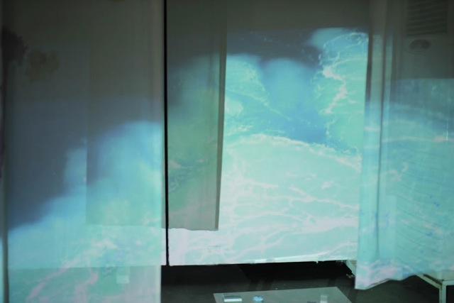 "Lucie Ferezou -  ""Μπλε συζητηση"" , 2017"