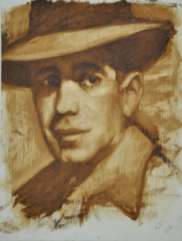 humphrey bogart, 2010, oil on panel