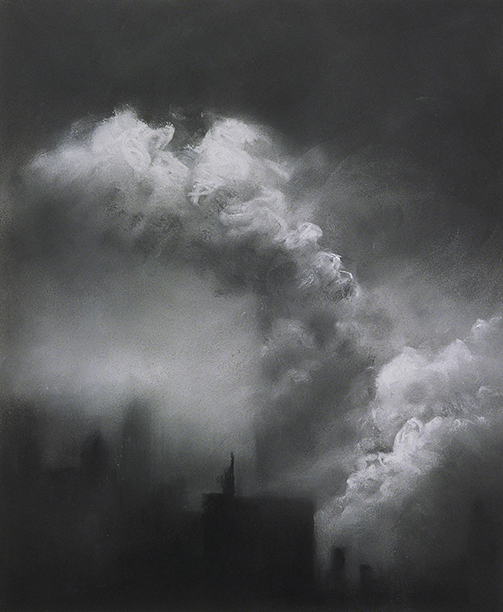 "September 11, 2001 (Pastel on paper, 17"" x 14"")  Collection of New-York Historical Society"