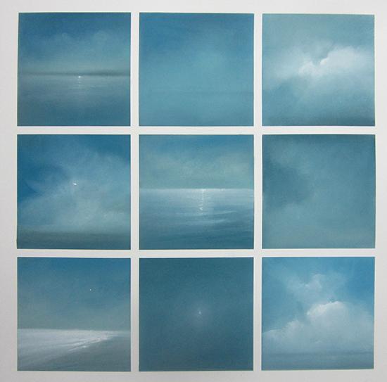 """Ocean Grid 3 (Pastel on paper,28"""" x 28"""")"""
