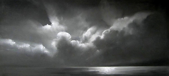 "Illumination V (Pastel on paper, 20"" x 44"")"