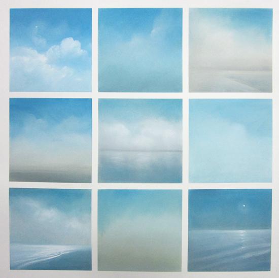 """Ocean Grid 2 (Pastel on paper, 28"""" x 28"""")"""