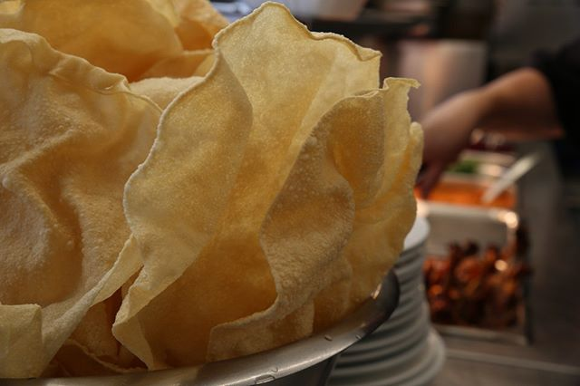 Snap, crackle and papadum.  #OnLocation #CrewCatering #LocationCatering #SetLife #Catering #Producer #InstaFood #FoodPorn #FoodIsLife #Food #Yum #Tasty  #Delicious
