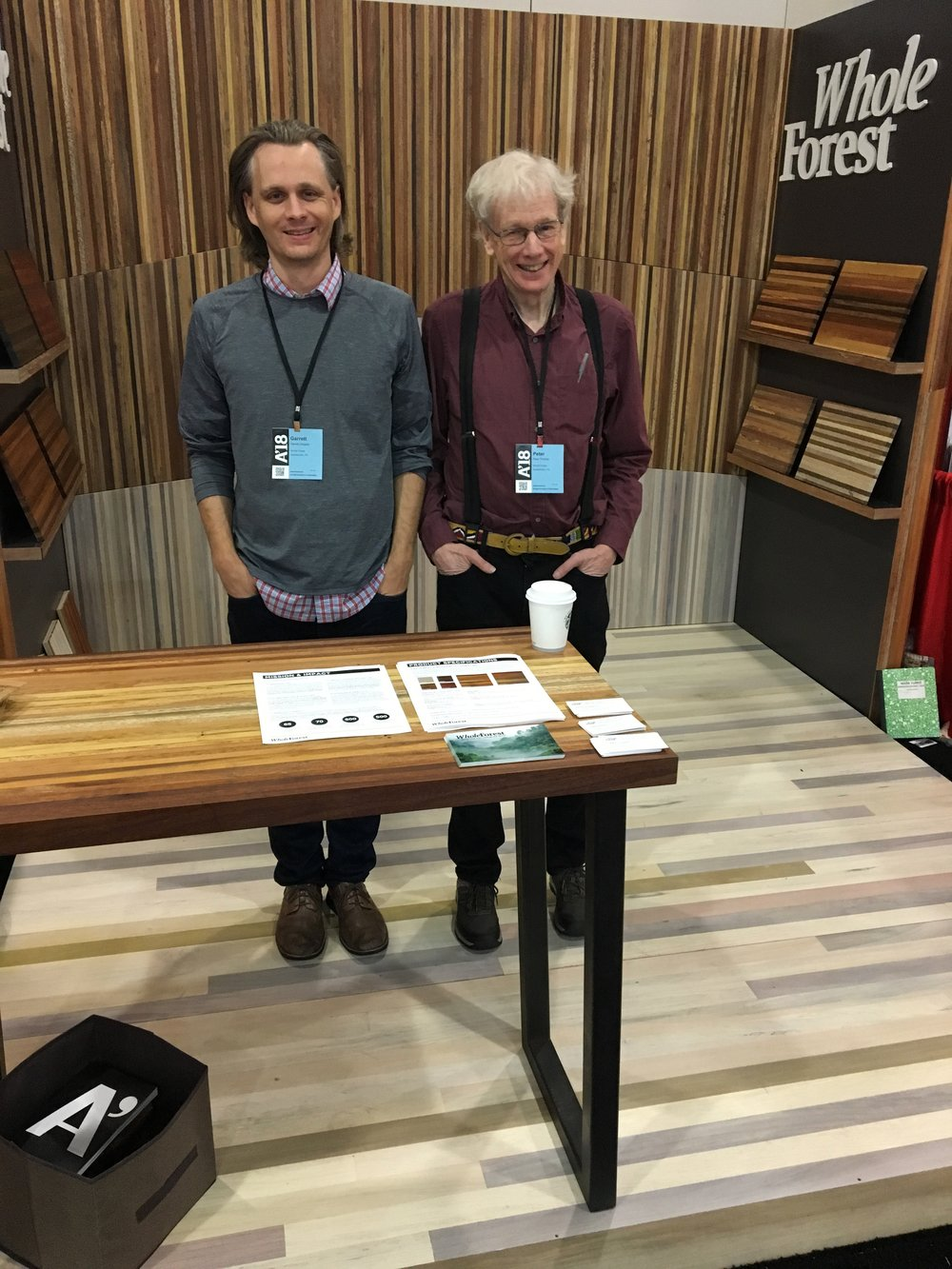 Whole Forest entrepreneurs. From left to right: Garrett Siegers, GM of Ecuadorian Operations; Peter Pinchot, CEO