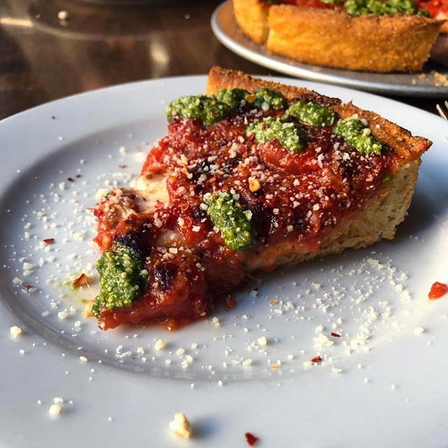 Happy National Deep Dish Day! On a day so close to our hearts (and stomachs) we'd like to remind you of our wide selection of specialty deep dish pizzas on our menu as well as dozens of toppings for your to build your own. Today's the day to get creative so show us what you've got! (📸 @kenjidesigns)