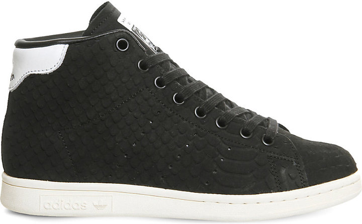 ADIDAS STAN SMITH MID-TOP LEATHER TRAINERSwas £95.00   Now £40! - Available Colours:BlackAvailable Sizes:UK 4 ,UK 5